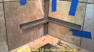 Installing A Shower Corner Seat