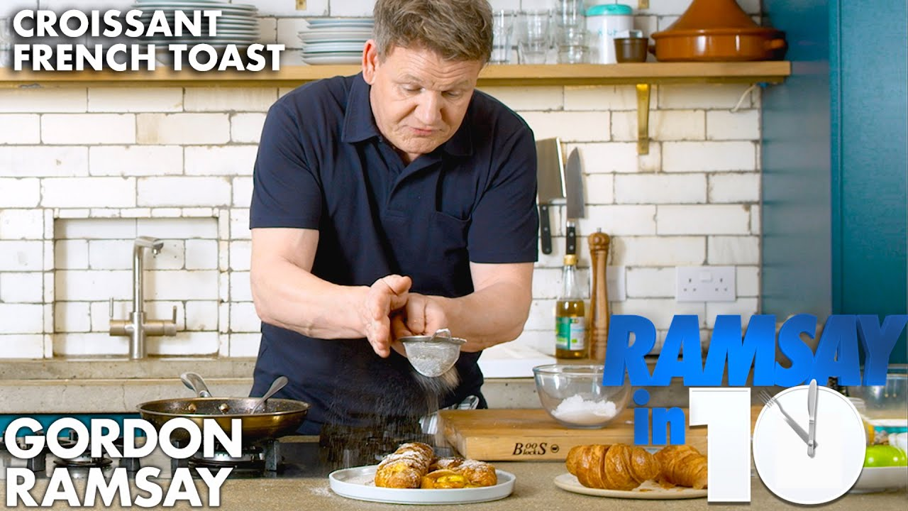 Stuffed Croissant French Toast Recipe in 7 Minutes ?!? | Gordon Ramsay