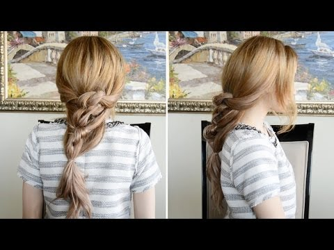 messy-chunky-knotted-ponytail-hairstyle-|-fancy-hair-tutorial