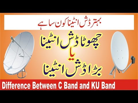How to Difference Between C Band and KU Band Dish Antenna