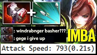 100% CANT RUN! WTF 800 AS BASHER WINDRANGER - Imba Nonstop Bash Top Immortal Dota 2 Pro Gameplay