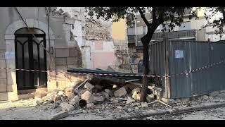 Crollo della palazzina in via Pisani