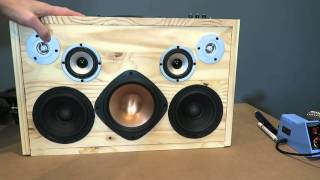 Home Made Boombox with subwoofer TPA3116D2 2.1 amp with airplay / bluetooth