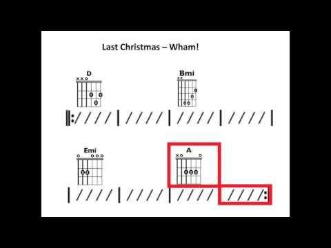 Last Christmas (Wham!) - Moving chord chart