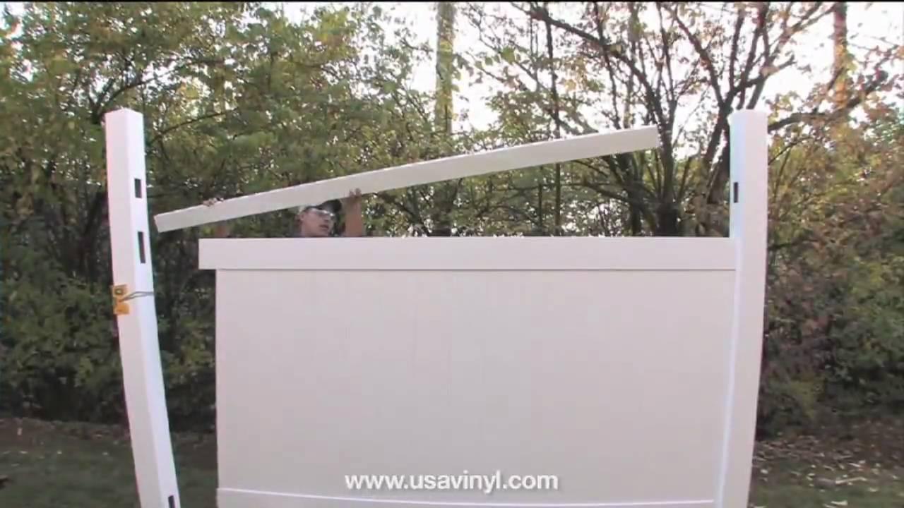 Usavinyl halifax vinyl privacy fence installation youtube usavinyl halifax vinyl privacy fence installation baanklon Image collections