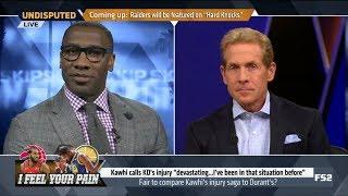 UNDISPUTED | Skip & Shannon DEBATE: Fair to compare Kawhi's injury saga to Kevin Durant's injury