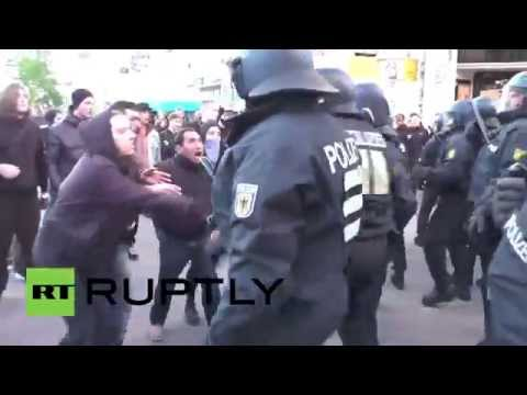 Germany: Riot police rage against May Day protesters in Hamburg