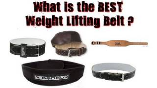 What is the Best Weight Lifting Belt?