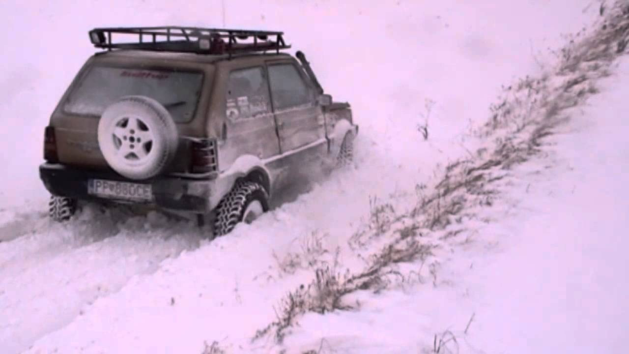 Panda 4x4 off road extreme snow youtube for Panda 4x4 sisley off road