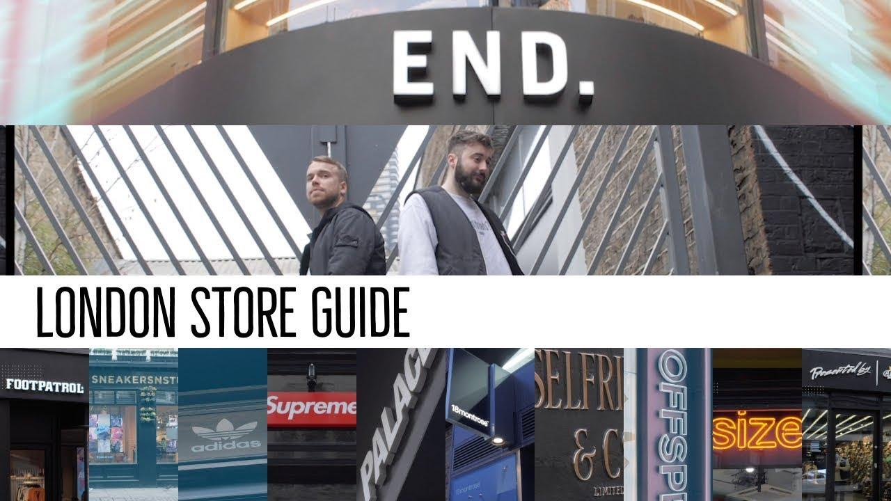 ede12760b4 The 13 Best LONDON Sneaker   Streetwear Shops - YouTube