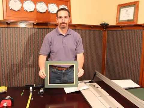 Cutting A Double Picture Frame Mat Youtube