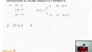 Videolezione matematica: Valori assoluti e loro proprietà - Lezioni di matematica di 29elode.it