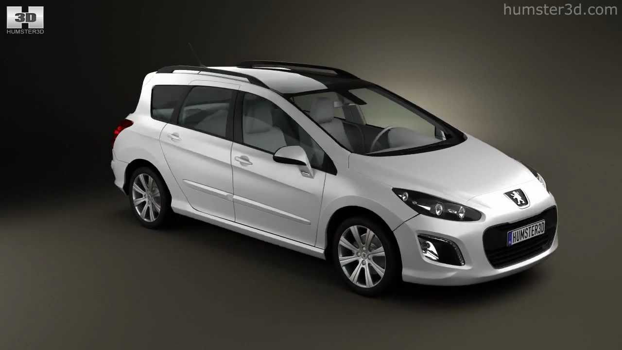 Peugeot 308 SW 2012 by 3D model store Humster3D.com - YouTube