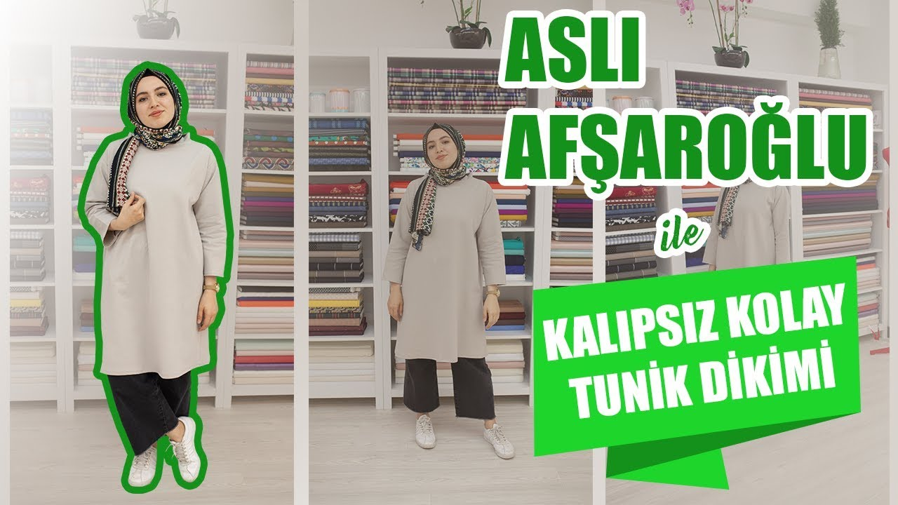 cc5fd82f1bc08 Kalıpsız Kolay Tunik Dikimi Aslı Afşaroğlu - Easy Tunic Sewing Without  Pattern