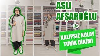 Kalıpsız Kolay Tunik Dikimi Aslı Afşaroğlu - Easy Tunic Sewing Without Pattern