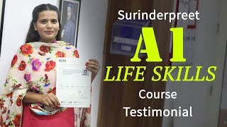 Surinderpreet Kaur A1 life Skill Course Testimonial at IELTS Learning