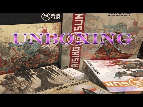 Rising Sun - Unboxing the Kickstarter Edition and Base Game!