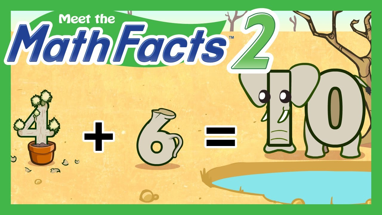 Meet the Math Facts Level 2 - 4+6=10 - YouTube