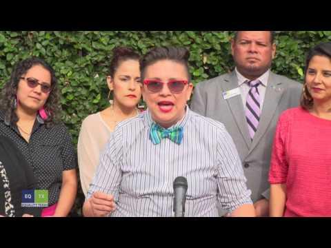 San Antonio small business news conference for Equality Texas