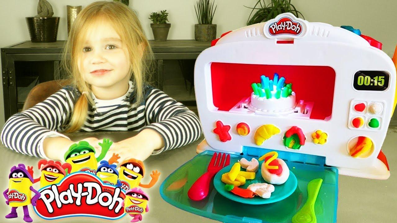 Four de cuisine magique et pate à modeler Play Doh Kitchen Creations (Unboxing) - YouTube