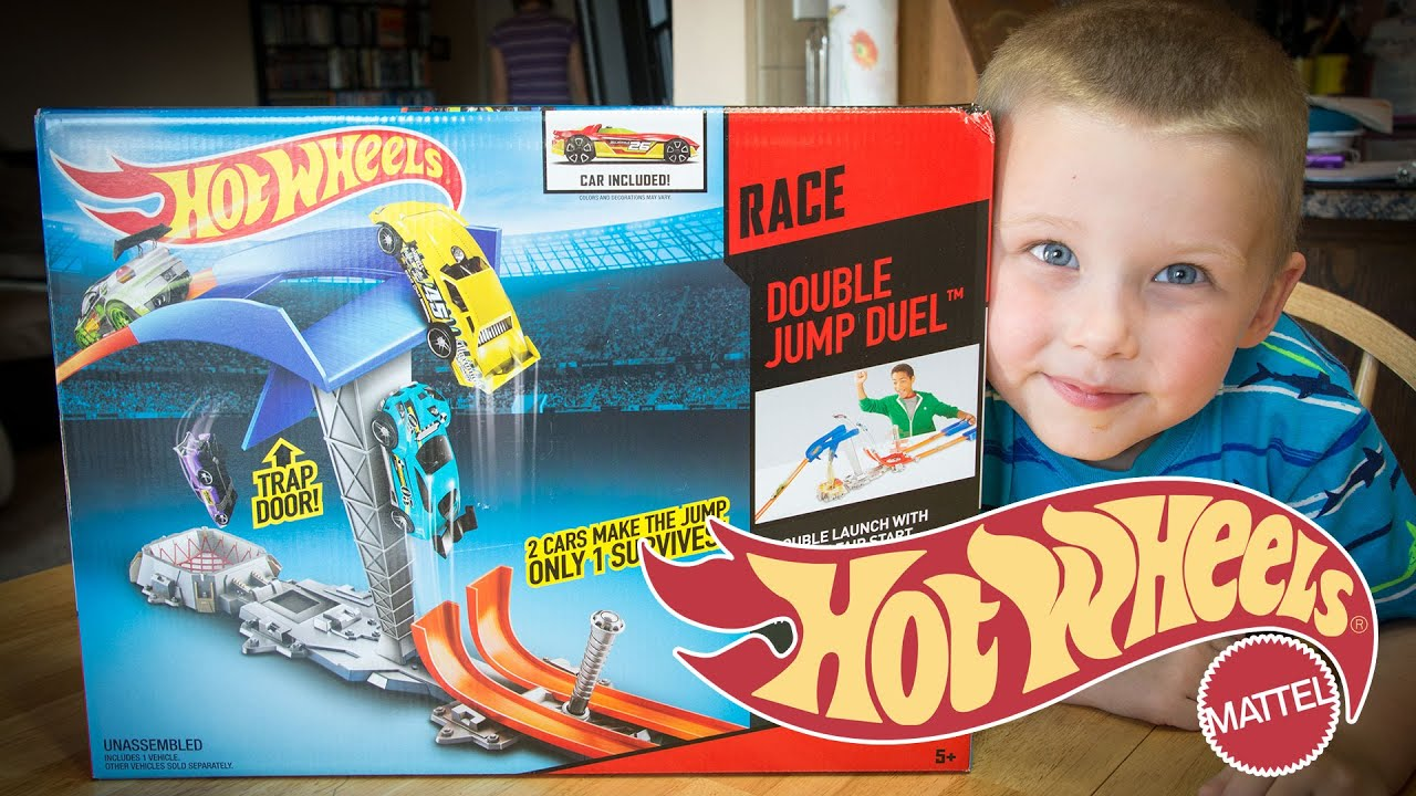 Double Parachute Race Car Kit : Hot wheels race double jump duel toys car