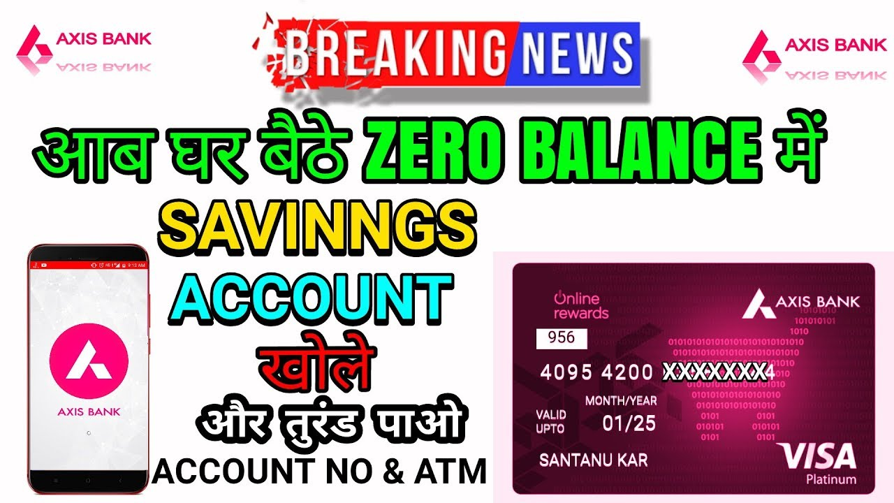 axis bank online open account zero balance