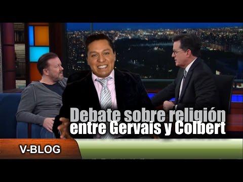 El debate sobre religión entre Gervais y Colbert