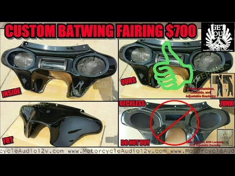 Custom Harley Batwing Universal Fairing / Audio Streetglide Stereo