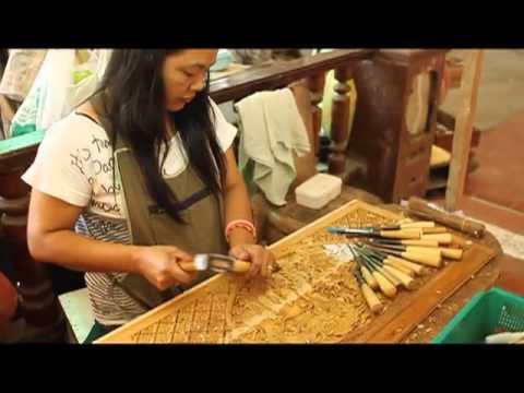 Royal Thai Handicrafts Center Damnoen Saduak Thailand Youtube
