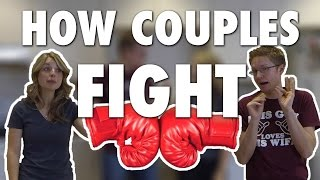 HOW COUPLES FIGHT! (Modern Marriage Moments)