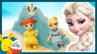 Reine des Neiges. Elsa Anna Olaf font du toboggan. Jouet enfant. Titounis Touni Toys