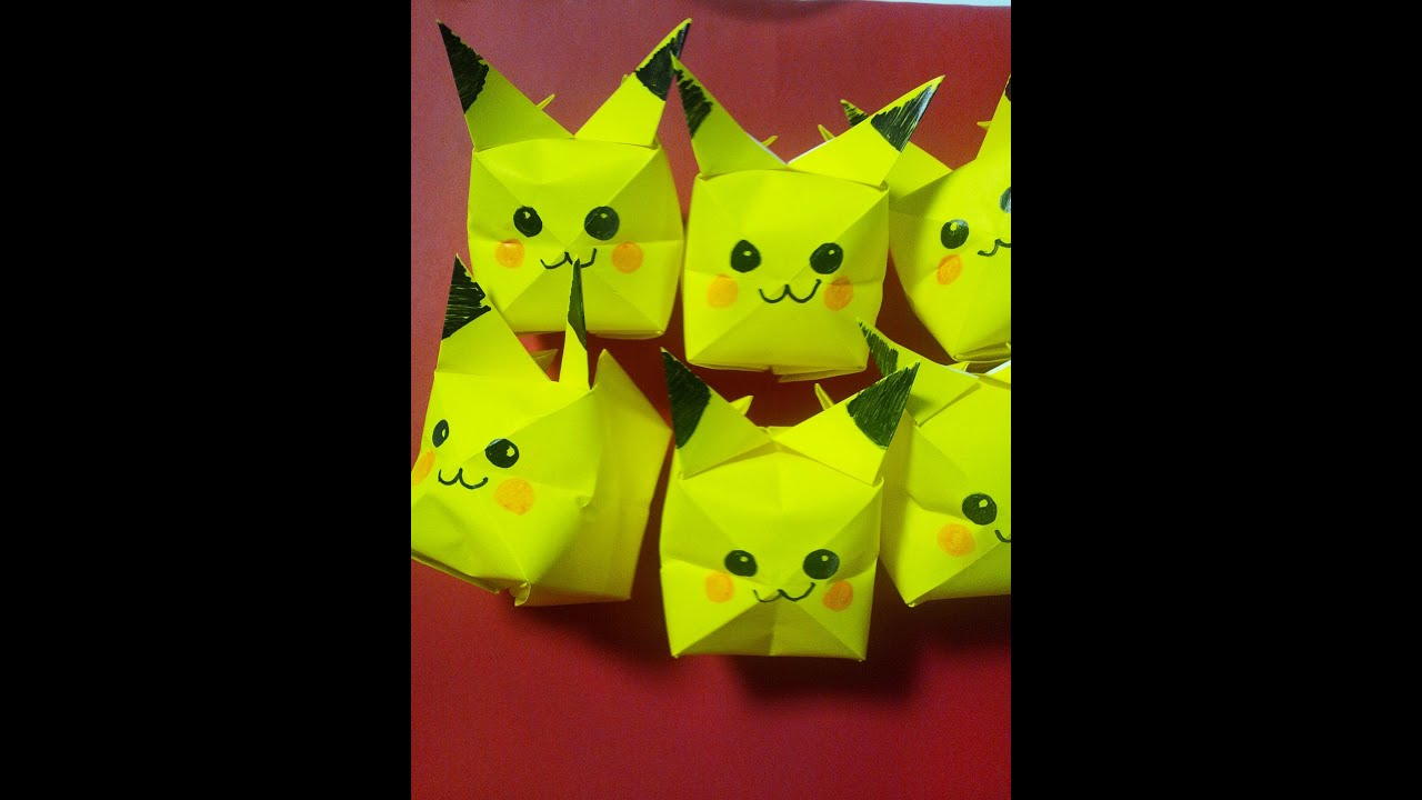 How To Make Origami Pikachu Cube
