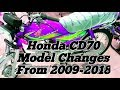 Honda CD70 Model And Other Change's From 2009-2018 | CD70 Tanki Tapay Designe.