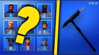 DEVINEA WHAT SKIN APPARTIENT THE PIOCHE? - FORTNITE quiz#2