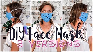 DIY Face Masks - 3 Versions - 3 Strap Options - Filter Pocket and Nose Frame