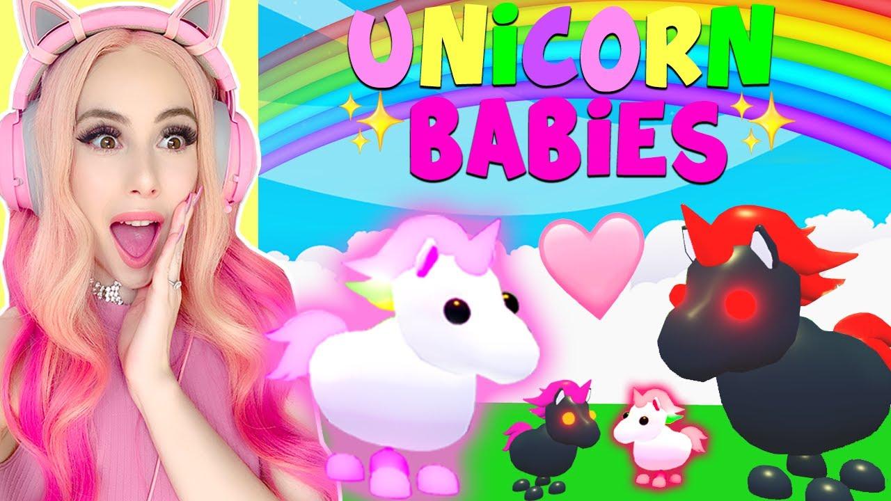 My Mega Neon Unicorn And Evil Unicorn Had Babies In Adopt Me