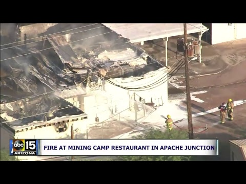 Large fire erupts at Mining Camp Restaurant in Apache Junction