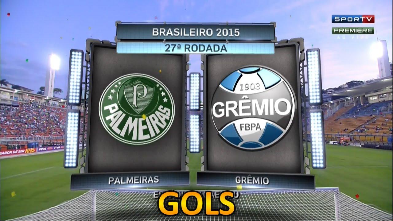 Gols, Palmeiras 3 x 2 Grêmio - Brasileirão 19/09/2015 ...