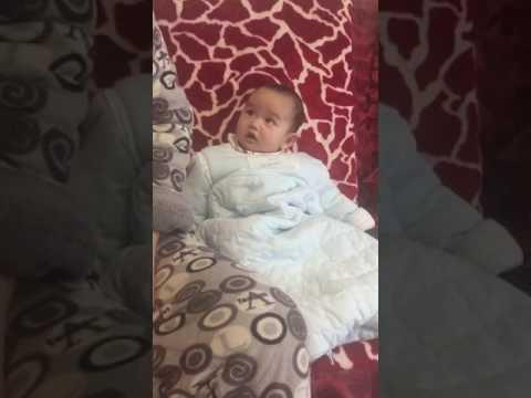 Cute granddaughter sneeze