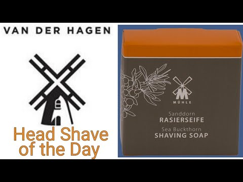 Head Shave of the Day - Van Der Hagen Safety Razor, Muhle - Sea Buckthorn, Yaqi Shaving Brush