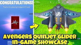 NEW FORTNITE AVENGERS QUINJET GLIDER GAMEPLAY! ENDGAME CHALLENGES REWARDS Fortnite Battle Royale
