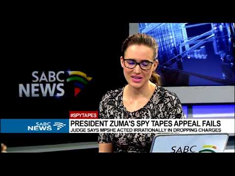 SCA dismissed the application by Pres Zuma and NPA in the so-called spy tapes saga
