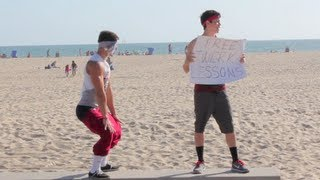 Twerking Lessons At The Beach!