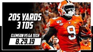 Travis Etienne Full Highlights Clemson vs Georgia Tech | 205 Yards, 3 TDs | 8.29.19