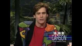 Jim Carrey Impressions of Kevin Bacon & Wile E. Coyote on Johnny Carson