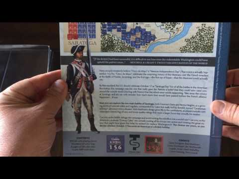 Saratoga 1777 AD from TPS Unboxing - The Players' Aid