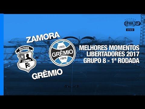 Melhores Momentos - Zamora 0 x 2 Grêmio - Libertadores - 09/03/2017
