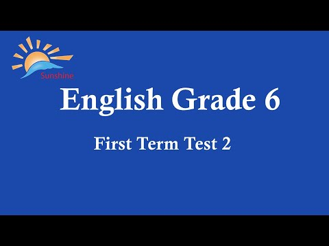English Grade 6 | First Term Test 2