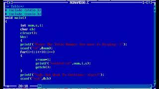 كيفية إنشاء جدول برنامج في لغة C