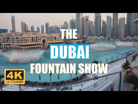 4K DUBAI FOUNTAIN SHOW